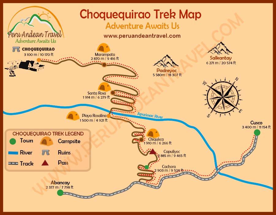 Choquequirao Trek Map
