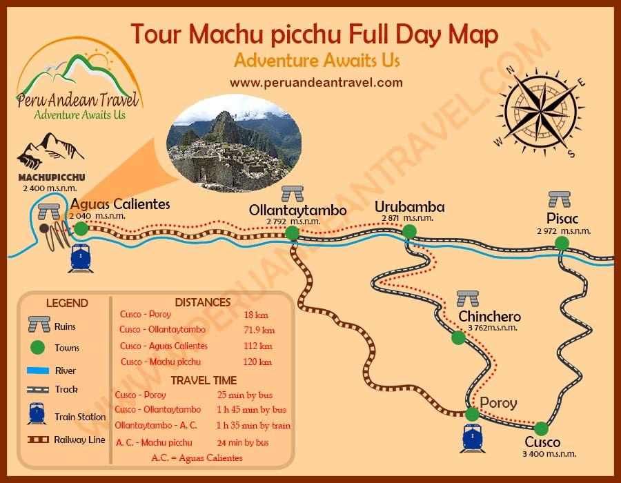 Aguas Calientes Peru Map.Machu Picchu Full Day Machu Picchu One Day Tour Traditional